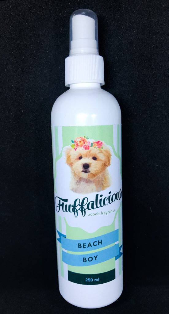 dog perfume spray on